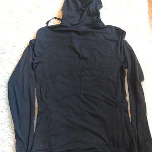 North Face Women's Nylon Hoodie Black Sz Small